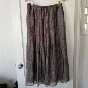 Lafayette 148 Silk Blend Maxi Skirt